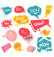 stickers in social media expression emotions vector image