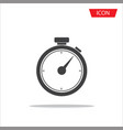 stopwatch icon isolated on white background vector image
