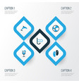 summer colorful icons set collection of swimming vector image