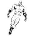 superhero flying 7 line art vector image vector image