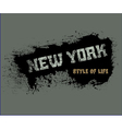 T shirt typography graphics Style life New York vector image