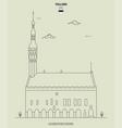 town hall in tallinn estonia vector image vector image