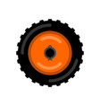 tractor wheel isolated wheel trolley vector image
