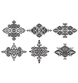 Tribal black element patterns on white background vector image vector image