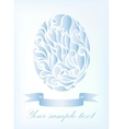 Vintage blue egg background vector image