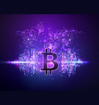 vivid bitcoin mining background global vector image vector image