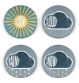 Weather vintage grunge Icons with Text vector image vector image