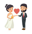 wedding couple design vector image vector image