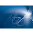 Blue glow abstract vector image