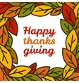 Happy thanksgiving day leaves frame vector image