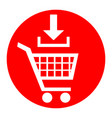 add to shopping cart sign white icon in vector image vector image