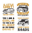 adventure car quote and saying set vector image