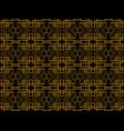 art deco seamless pattern linear geometric art of vector image vector image