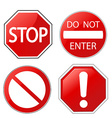Attention red design elements vector image vector image