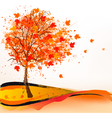 Autumn background with a tree vector image