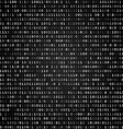 Binary code screen black vector image vector image