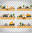 building site machinery on transparent background vector image vector image