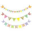 bunting roses vector image vector image