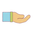 businessman hand and communication gesture vector image