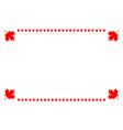 canadian flag symbolism ribbon frame vector image vector image