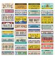 car plates set american vehicles automobile vector image vector image