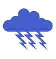 cloud with lightning vector image vector image