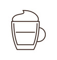 coffee glass isolated linear icon vector image vector image