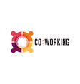 coworking space networking zone logo and icon vector image vector image