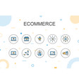 ecommerce trendy infographic template thin line vector image
