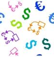 Euro Dollar Flow Chart Flat Seamless vector image vector image