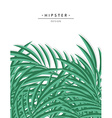 Exotic background with green palm leave for design vector image vector image