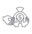 financial fraud line icon concept financial fraud vector image