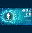 fintech blockchain concept bitcoin dollar vector image vector image