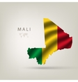 flag of Mali as the country vector image vector image