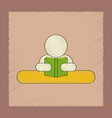flat shading style icon man reading book vector image vector image
