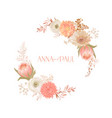 floral wedding frame invitation greeting vector image