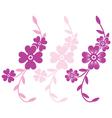 Flower branch vector image vector image