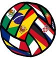 football soccer ball made flags vector image