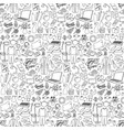 hand drawn stay home seamless pattern vector image