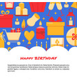 happy birthday celebration banner template in flat vector image