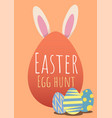 happy easter greeting card with easter egg vector image vector image