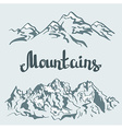 Himalayan peaks Hand drawn mountain landscape vector image