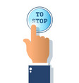 icon stop button isolated on white background vector image vector image