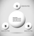 Infographics with group of flying balls vector image