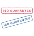iso guarantee textile stamps vector image vector image