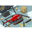 Isometric Arctic Emergency Helicopter in Rear View vector image vector image