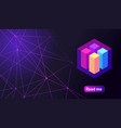 isometric holographic geometric icon crypto curre vector image vector image