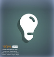 light bulb idea icon symbol on the blue-green vector image