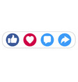 like love comment share social network icon vector image