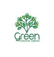 logo green leaf ecology nature element i vector image vector image